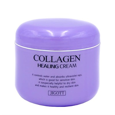 Ночной крем для лица с коллагеном Jigott Collagen Healing Cream - фото 5177