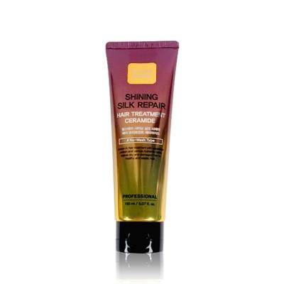 Укрепляющая маска для волос с керамидами Farm Stay Shining Silk Repair Hair Treatment Ceramide - фото 5193