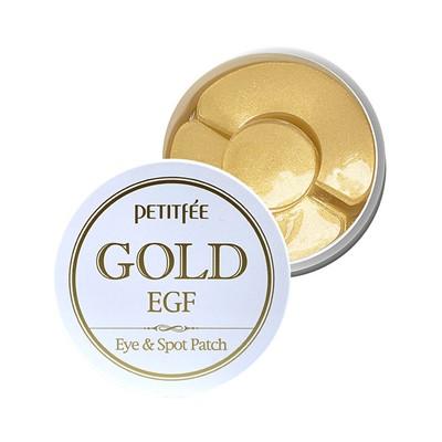 Petitfee Гидрогелевые патчи для век с золотыми частицами и фактором роста Gold & EGF eye & spot patch - фото 5216