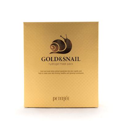 Маска гидрогелевая с коллоидным золотом и муцином улитки для лица / Hydrogel Mask Pack 5 шт - фото 5224