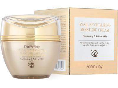Восстанавливающий крем с муцином улитки FarmStay Snail Revitalizing Moisture Cream - фото 5234