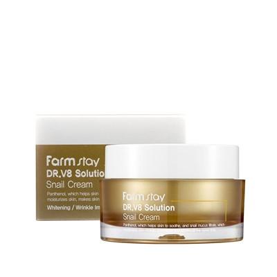 Farmstay DR.V8 Solution Snail Cream Крем для лица с муцином улитки, 50 мл - фото 5235