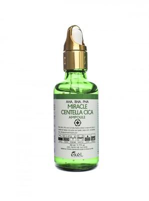 Ekel Ампульная сыворотка с кислотами AHA,BHA,PHA Centella Cica Ampoule Green 50 мл - фото 5238