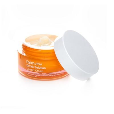 Farmstay DR.V8 Solution Vitamin cream Крем для лица с витаминами, 50 мл - фото 5268