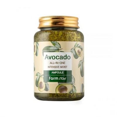 Многофункциональная ампульная сыворотка с экстрактом авокадо Avocado All-In-One Intensive Moist Ampoule FarmStay - фото 5270