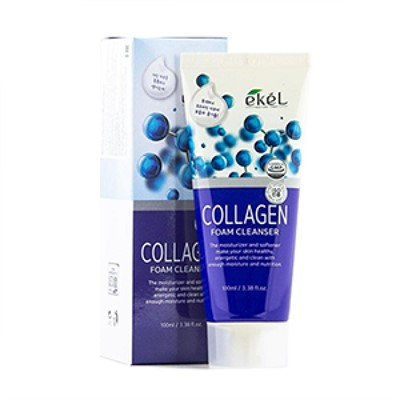 ПЕНКА ДЛЯ УМЫВАНИЯ ЛИЦА С КОЛЛАГЕНОМ EKEL COLLAGEN FOAM CLEANSER - фото 5273