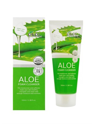 Ekel Пенка для умывания с экстрактом алоэ aloe foam cleanser 100 мл. - фото 5276