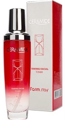 Укрепляющий тонер для лица с керамидами FarmStay Ceramide Firming Facial Toner, 130ml - фото 5279