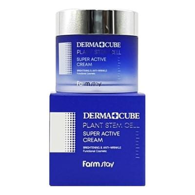 FarmStay Derma Cube Plant Stem Cell Super Active Cream Крем для лица со стволовыми клетками, 80 гр - фото 5282