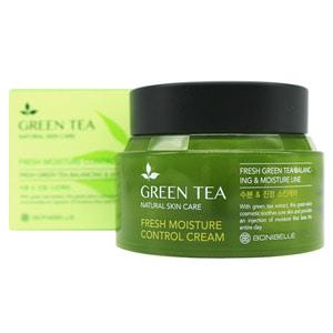 BONIBELLE Крем для лица ЗЕЛЕНЫЙ ЧАЙ Green Tea Fresh Moisture Control Cream, 80 мл - фото 5284