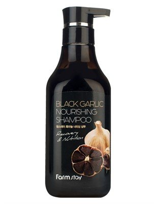 Farmstay шампунь Black Garlic Nourishing Shampoo с экстрактом черного чеснока, 530 мл - фото 5291