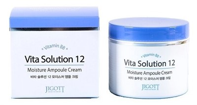 Jigott Vita Solution 12 Увлажняющий ампульный крем для лица, 100 мл - фото 5307