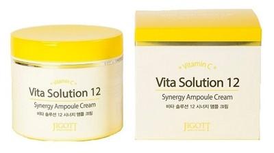 Jigott Vita Solution 12 Энергетический ампульный крем для лица, 100 мл - фото 5309