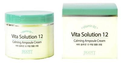 Jigott Vita Solution 12 Успокаивающий ампульный крем для лица, 100 мл - фото 5310