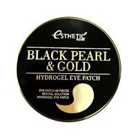 Патчи для глаз Esthetic House Black Pearl & Gold Hydrogel Eye Patch