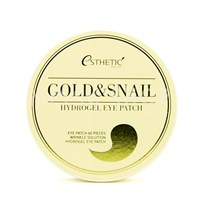 Патчи для глаз Esthetic House Gold & Snail Hydrogel Eye Patch 60 шт