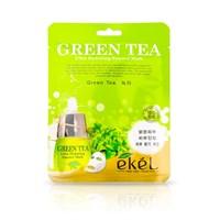 Противовоспалительная и себорегулирующая тканевая маска с экстрактом зеленого чая - Ekel Green Tea Ultra Hydrating Mask